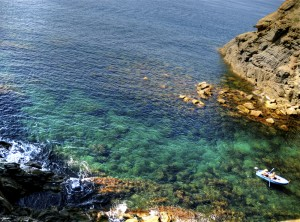 Itsas ura kolorez blai (Colourful sea water)